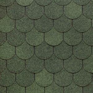 Гибкая черепица Docke PIE серия Standart Кольчуга зеленый